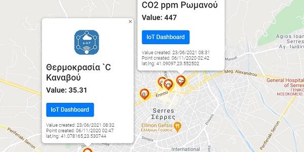 Εμφάνιση του Map-Dashboard